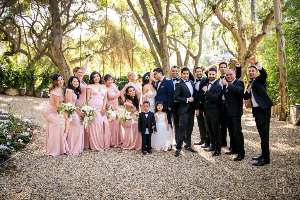 Wedding Party Photo near The Oaks Room