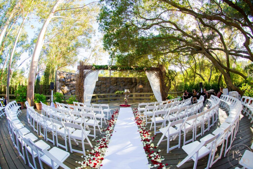 Wedding Ceremony Site at The Oaks Room