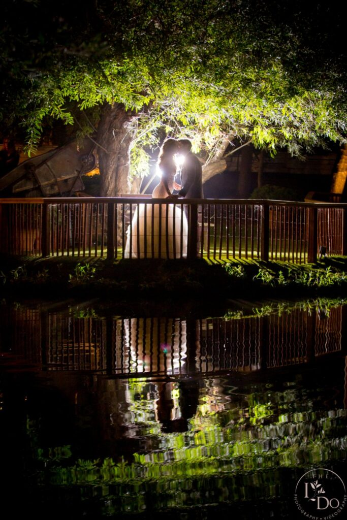 Epic Wedding Photo at Redwood Room in Calamigos Ranch
